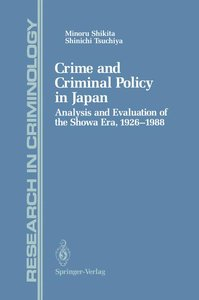Crime and Criminal Policy in Japan