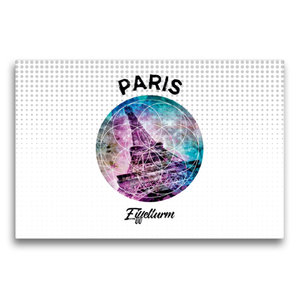 Premium Textil-Leinwand 75 cm x 50 cm quer Graphic-Art PARIS Eif