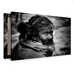 Premium Textil-Leinwand 75 cm x 50 cm quer Sadhu von Jagdev Sing