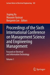 Proceedings of the Sixth International Conference on Management