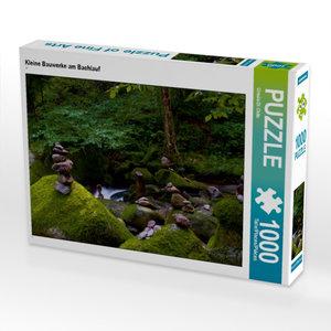 Kleine Bauwerke am Bachlauf 1000 Teile Puzzle quer