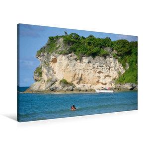 Premium Textil-Leinwand 90 cm x 60 cm quer Roco Ki Beach / Atlan