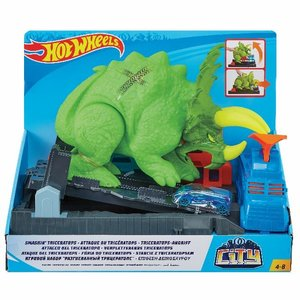 HW City Triceratops-Angriff Spielset
