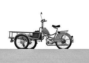 Messerschmitt Mokuli 130 A in monochrom (Posterbuch DIN A4 quer)