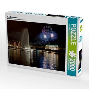 Dom Feuerwerk 2000 Teile Puzzle quer