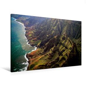 Premium Textil-Leinwand 120 cm x 80 cm quer Na Pali Coast