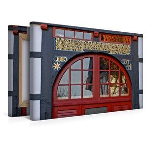 Premium Textil-Leinwand 45 cm x 30 cm quer Vierständerhaus von 1