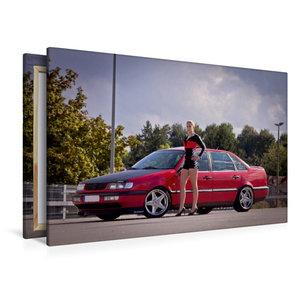 Premium Textil-Leinwand 120 cm x 80 cm quer Scharfer Boxenstopp