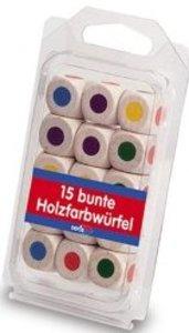 15 Holz Farbwürfel