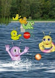 Die kleinen Raupen und ihre Erlebnisse (Posterbuch DIN A3 hoch)