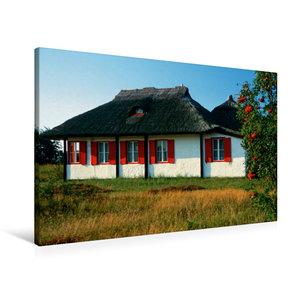 Premium Textil-Leinwand 90 cm x 60 cm quer Haus auf Hiddensee