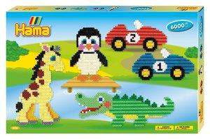 Hama 3036 - Bügelperlen - Gigantische Geschenkpackung Tiere und