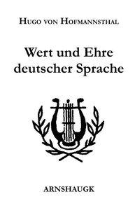 Wert und Ehre deutscher Sprache