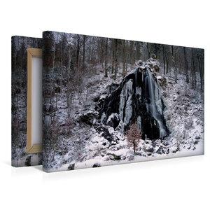 Premium Textil-Leinwand 45 cm x 30 cm quer Radaufall
