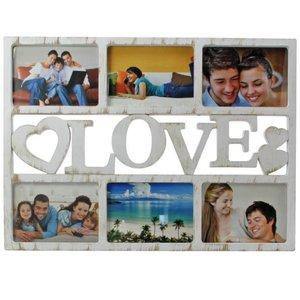 Bilderrahmen Love für 6 Bilder im Format 13 x 18 cm