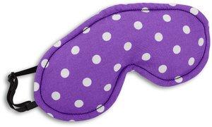 Schlafmaske, Peanut, Farbe: Polka dot lila / Mitternacht