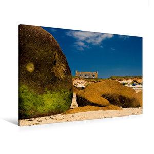 Premium Textil-Leinwand 120 cm x 80 cm quer Am Strand vom Guisse
