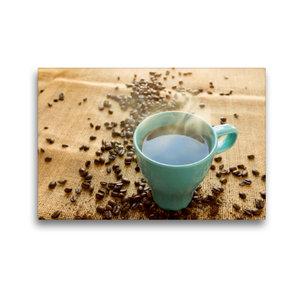 Premium Textil-Leinwand 45 cm x 30 cm quer Kaffee türkis