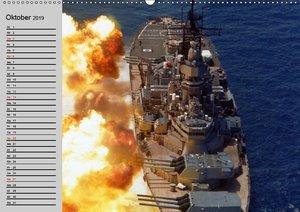 Kriegsschiffe der USA (Wandkalender 2019 DIN A2 quer)