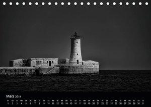 Maritimes monochrom (Tischkalender 2019 DIN A5 quer)