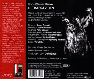 Die Bassariden-Uraufführung Salzburg 1966 (GA)