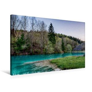 Premium Textil-Leinwand 75 cm x 50 cm quer Der blaue See