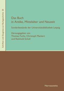 Das Buch in Antike, Mittelalter und Neuzeit