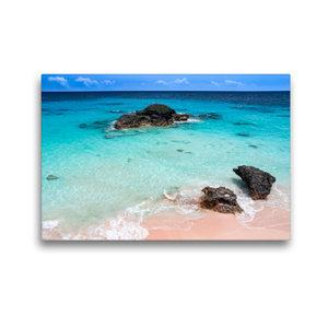 Premium Textil-Leinwand 45 cm x 30 cm quer Pink Coral Beach - Be