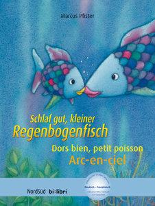 Schlaf gut, kleiner Regenbogenfisch. Kinderbuch Deutsch-Französi
