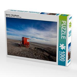 Borkum - Strandkarren 1000 Teile Puzzle quer