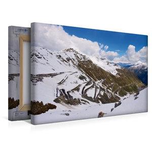 Premium Textil-Leinwand 45 cm x 30 cm quer Stilfser Joch