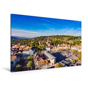 Premium Textil-Leinwand 120 cm x 80 cm quer Blick über Bad Hersf