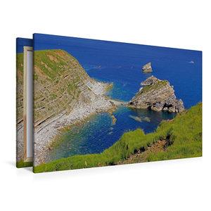 Premium Textil-Leinwand 120 cm x 80 cm quer Jurassic Coast, Dors