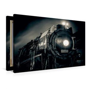 Premium Textil-Leinwand 90 cm x 60 cm quer Dampflokomotive 477.0