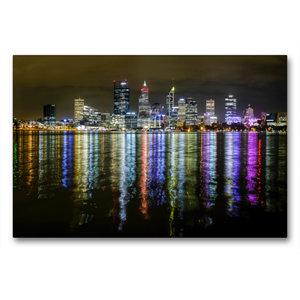 Premium Textil-Leinwand 90 cm x 60 cm quer Perth