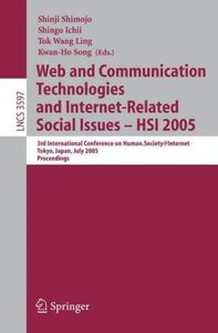 Web and Communication Technologies and Internet-Related Social I