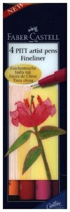 Tuschestift PITT artist pen S warm colour 4er Etui