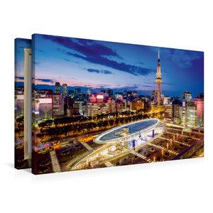 Premium Textil-Leinwand 90 cm x 60 cm quer Nagoya Oasis 21