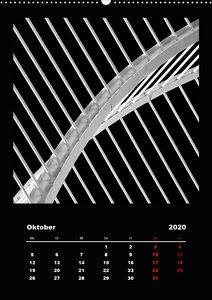 Architektur - Grafik im Detail Monochrom (Wandkalender 2020 DIN