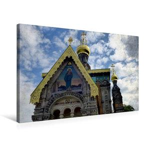 Premium Textil-Leinwand 75 cm x 50 cm quer Russische Kapelle