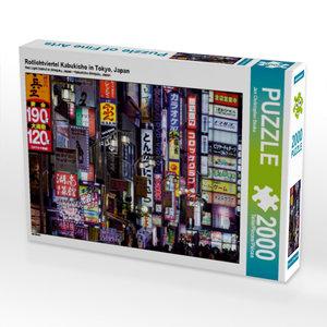 Rotlichtviertel Kabukicho in Tokyo, Japan 2000 Teile Puzzle quer