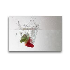 Premium Textil-Leinwand 45 cm x 30 cm quer Erdbeere