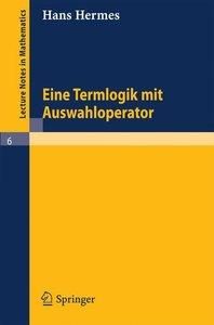 Term Logic with Choice Operator