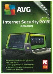 AVG Internet Security unbegrenzt 2019, 1 DVD-ROM