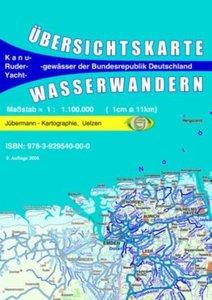 Wasserwandern Deutschland Übersichtskarte 1 : 1 100 000