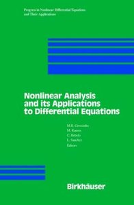 Nonlinear Analysis and its Applications to Differential Equation