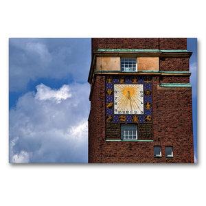 Premium Textil-Leinwand 90 cm x 60 cm quer Sonnenuhr am Hochzeit
