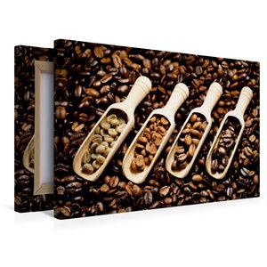 Premium Textil-Leinwand 45 cm x 30 cm quer Duftende Kaffebohnen
