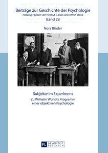 Subjekte im Experiment