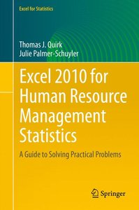 Excel 2010 for Human Resource Management Statistics